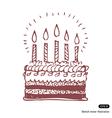 Happy birthday cake vector