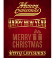 Golden inscriptions - merry christmas vector