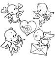 Valentine angels vector