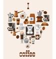 Love coffee concept vector