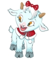 Little goat symbol 2015 year vector