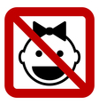 No baby sign vector