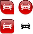 Car glossy button vector