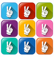 Icons with hands vector
