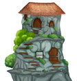 Cave house vector