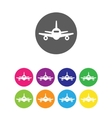 Flat air plane icons vector