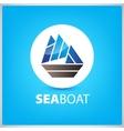 Sea boat ship icon vector