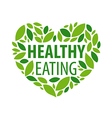 Logo heart from petals for a healthy diet vector