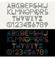 Alphabet letters and numbers vector