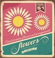 Vintage florist shop sign vector