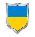 Ukraine flag button vector