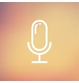Old microphone thin line icon vector