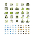 25 detailed internet icons vector