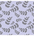 Seamless pattern branches with leaves vector