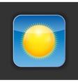 Sunny shiny button vector