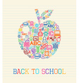 Back to school apple concept vector