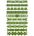 Green celtic knots ornaments vector
