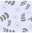 Seamless pattern branches with leaves and flowers vector