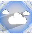 Cloud download application web icon on a flat vector