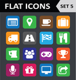 Universal colorful flat icons set 5 vector