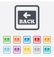 Arrow sign icon back button navigation symbol vector
