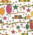 Happy birthday seamless background vector