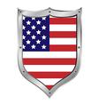 Usa flag button vector