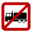 No cargo car sign vector