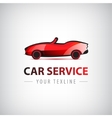 Red car icon logo isolated vector