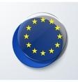 Modern euro flag design vector