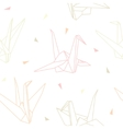 Origami paper cranes seamless pattern vector