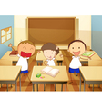 Kids in a classroom vector