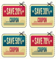 Coupon sale collection vector