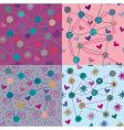 Set of bright seamless patterns vector