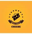 Cheese vintage label design background vector