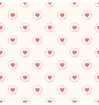 Seamless geometric cute pattern with hearts vector