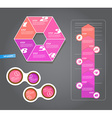Set of pink labels for wide variety of use vector