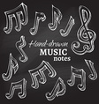 Set of chalk music icons vector