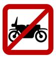 No motorcycle sign vector