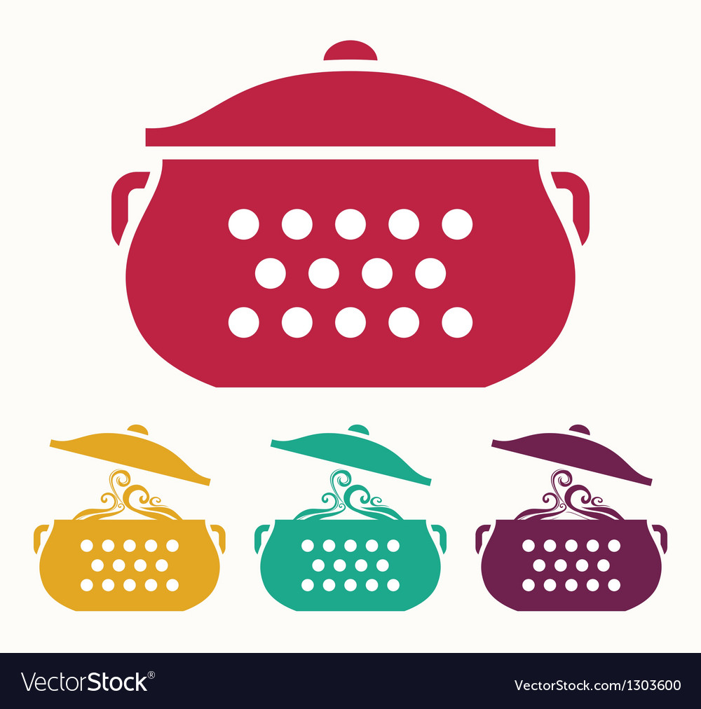Boiling pot vector | Price: 1 Credit (USD $1)
