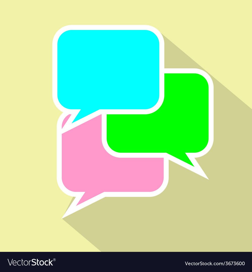 Bubble speach flat icon conversation or vector | Price: 1 Credit (USD $1)