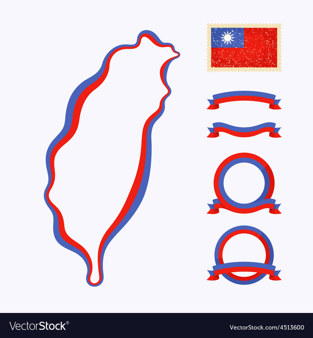 Colors of taiwan vector | Price: 1 Credit (USD $1)