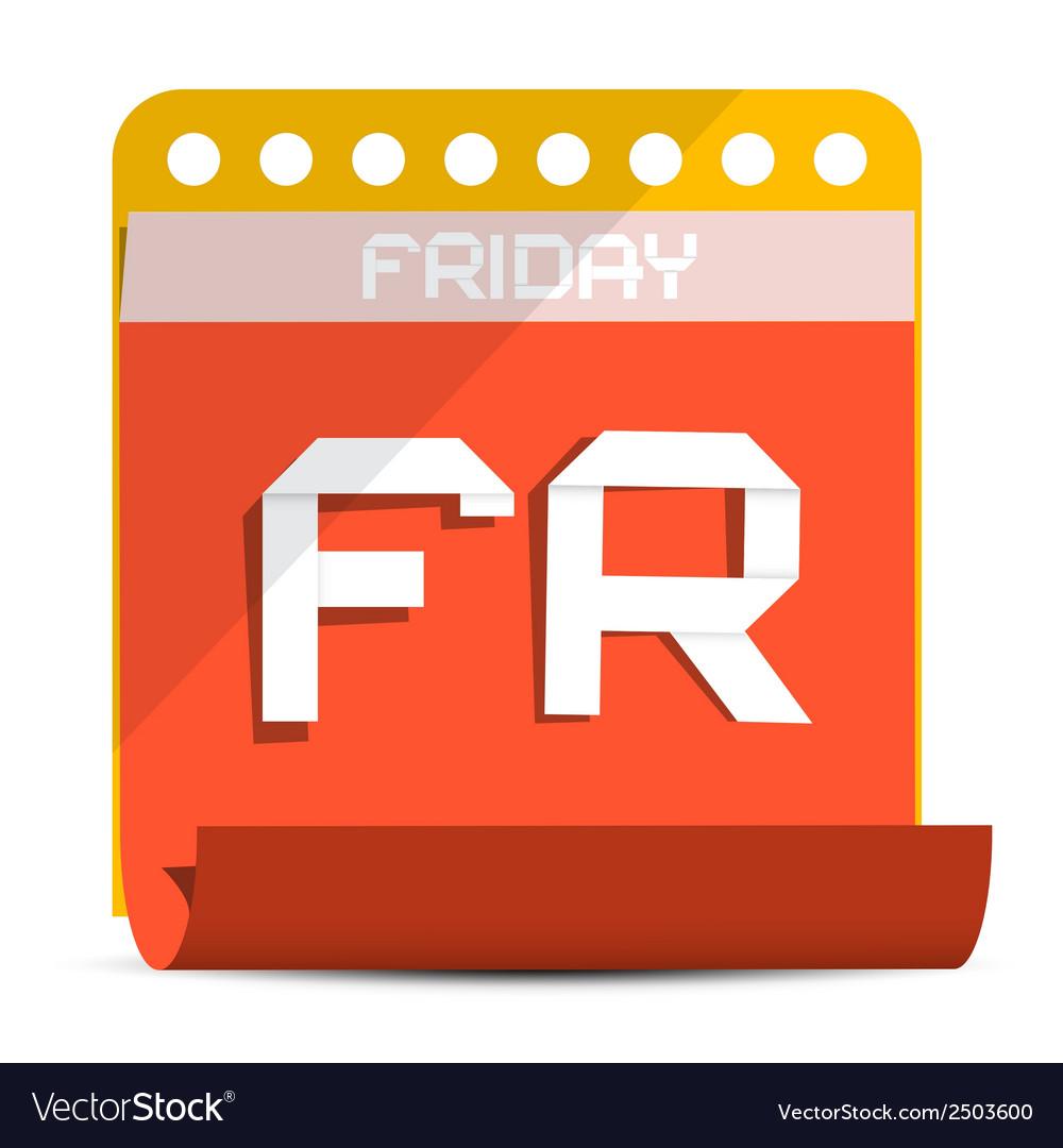 Friday paper calendar vector   Price: 1 Credit (USD $1)