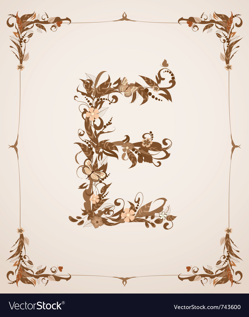 Retro vintage letter in a frame vector | Price: 1 Credit (USD $1)