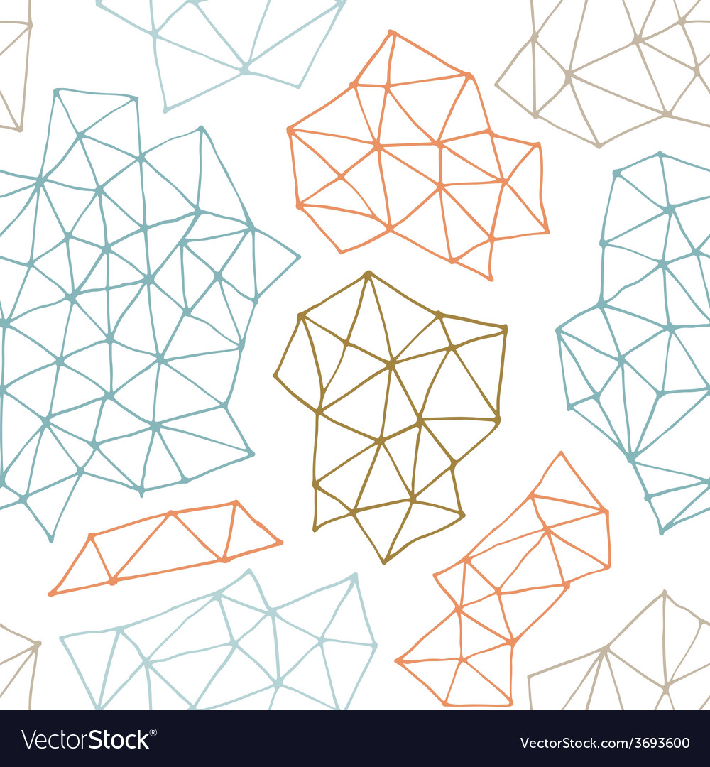 Seamless pattern with outline geometrical vector | Price: 1 Credit (USD $1)