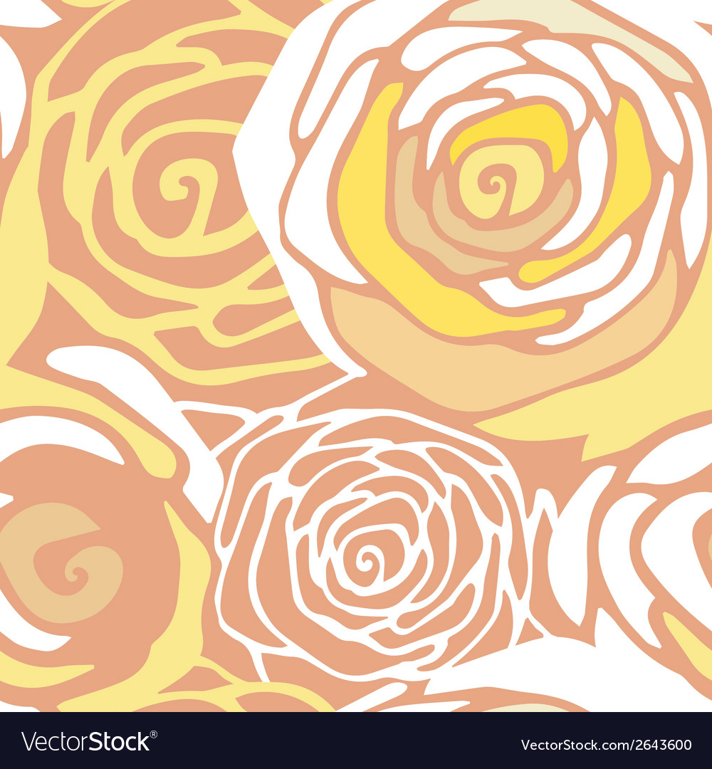 Seamless pattern with stylized roses vector | Price: 1 Credit (USD $1)