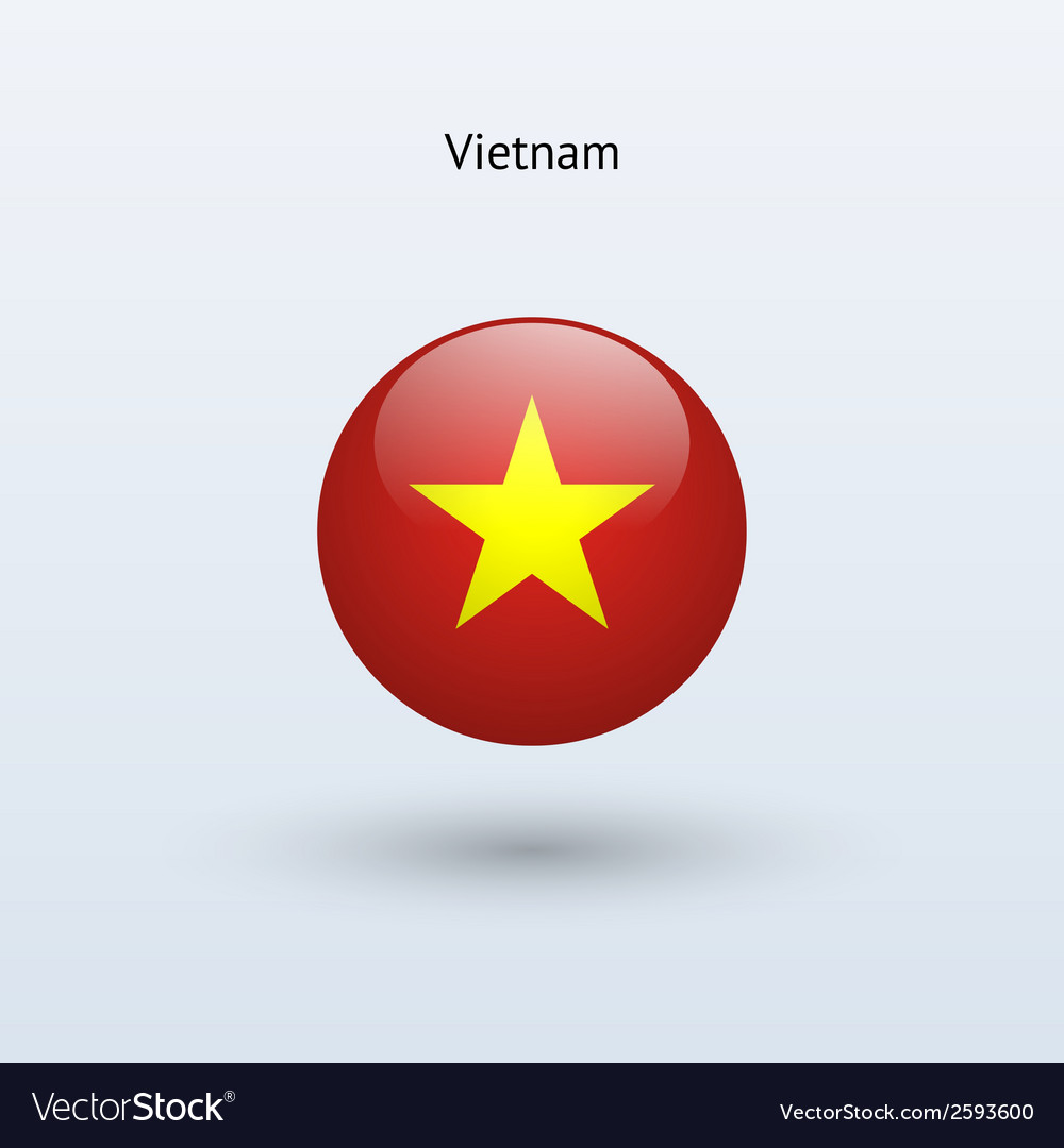 Vietnam round flag vector | Price: 1 Credit (USD $1)