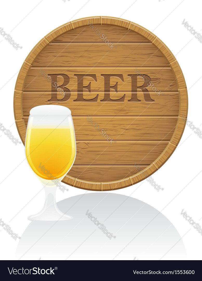 Wooden barrel 04 vector | Price: 1 Credit (USD $1)