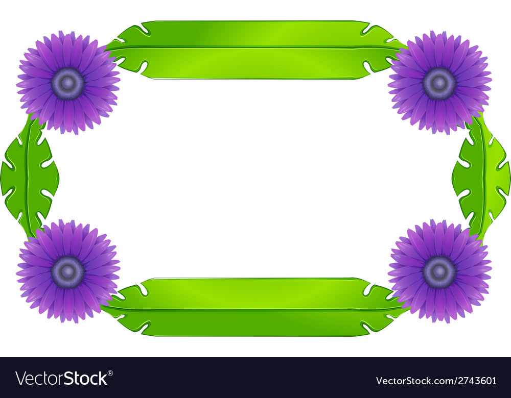 A border design with lavender flowers and green vector | Price: 1 Credit (USD $1)
