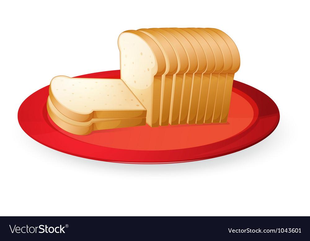 Bread slices vector | Price: 3 Credit (USD $3)